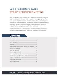 Design Meeting Agenda Template The 4 Meeting Agendas That Drive Strategic Execution Plus