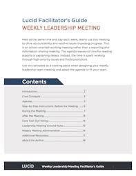 The 4 Meeting Agendas That Drive Strategic Execution Plus