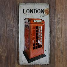 london telephone vintage home decor shabby chic bar coffee decor