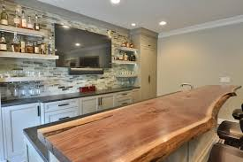 basement bar. 2015- Alpharetta, GA \u2013 Basement Finish With Custom Bar, Panel Fridge, Wood Bar Top, Media Room And Full Bathroom. Additional Wet Size Fridge \