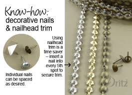 decorative nails for furniture. DIY Home Decorating: How To Use Dritz Decorative Nails \u0026 Nailhead Trim For Furniture E