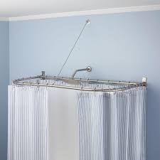 Ceiling Mounted Shower Curtain Rods ceiling exciting bathroom design with ceiling mounted curtain 4271 by xevi.us