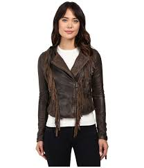 levi s women s dark brown asymmetrical fringe leather jacket coats and jackets l6mnqm2jd