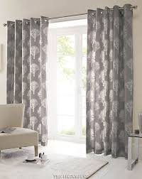 Next Living Room Curtains Bargain 100 Cotton Grey Curtains Woodland Trees Ring Topfree