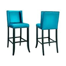 Blue Counter Stools Backless Kitchen Height  Funky Stool Teal  Leather Bar E75