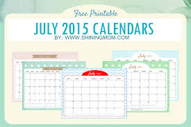 Cute Calendars For July 2015 Free