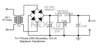 new circuits page 224 next gr 12v fixed voltage power supply circuit diagram