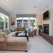 neutral living room with taupe sectional design ideas pictures remodel and decor beige sectional living room