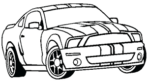 mustang coloring sheet race car pages for kids g