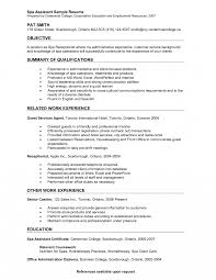 Front Desk Receptionist Resume Medical Receptionist Resume Examples Spa Samples Salon Sample 43