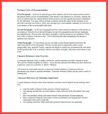 Personal References For Job Character Reference Template For A Friend Free Letter References
