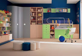 ... Cute Pictures Of Awesome Kid Bedroom Design And Decoration For Your  Lovely Children : Endearing Blue ...