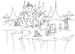 Learn how to draw and color a princess castle coloring page. Disney Princess Castle Coloring Pages