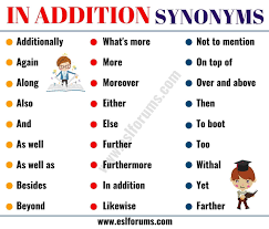 In Addition Synonym 28 Useful Synonyms For In Addition