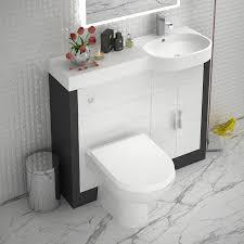 grey 1000 vanity unit rh curved designer and stylish bathroom accessory