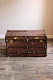 bespoke steamer trunk coffee table in leather