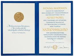 kazuo ishiguro nobel diploma nobel diploma