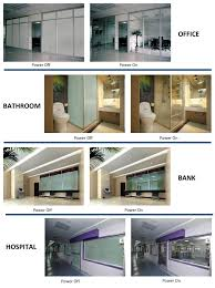 you can install the switchable smart glass at office hotel ktv residence car ping mall hospital projection etc