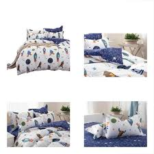 duvet cover sets boys galaxy space bedding twin size kids 100 cotton duvet