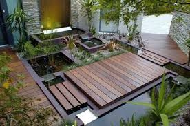 Small Picture Garden Design Garden Design with Ipe deck patio raised garden bed