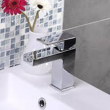Modern Bathroom Taps Enki Milan Square Design Bath Filler Shower Basin Mixer Bath Tap