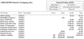 General Ledger Report For Payroll Asap Help Center