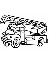 Stampa Disegno Di Camion Dei Pompieri Da Colorare