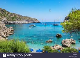 View of Ladiko Anthony Quinn Bay. Rhodes, Dodecanese Islands, Greece Stock  Photo - Alamy
