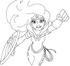 View and print full size. Free Printable Super Hero High Coloring Pages Wonder Woman Super Hero High Coloring Page