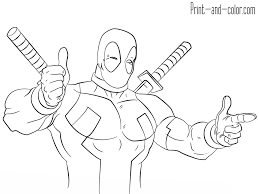 Deadpool Coloring Pages Print And Colorcom
