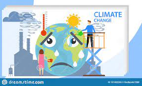 Climate Change, People Influence Climate Change. Climate Change. Vector  Illustration Stock Vector - Illustration of environment, ecology: 151402320