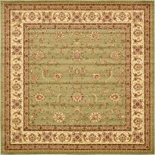 unique loom voyage green 10 x 10 square rug