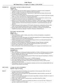 Sample Nurse Manager Resumes Nurse Case Manager Resume Samples Velvet Jobs