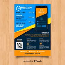 Mobile App Flyer Template Vector Free Download