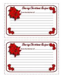 Printable Christmas Recipe Cards 108 Best Recipe Cards Images Printable Recipe Cards Printables