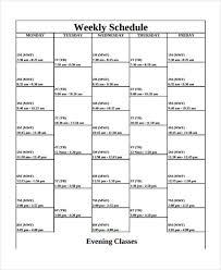 weekly schedule example 10 weekly school schedule templates sample example