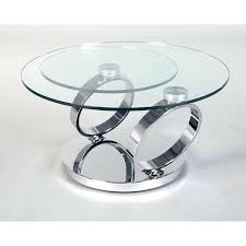 glass swivel coffee table chrome and glass swivel coffee table ancona in designs 15 square glass