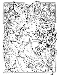 Small Picture Art Nouveau Coloring Pages Herb leonhard fae bnouveau coloring