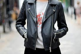 biker jacket street style