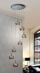 drop lighting. Smoked Glass And Crystal Long Drop Light Ideal For Atriums Stairwells. Lighting