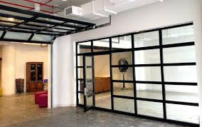 Glasspassingdoor Full View Aluminum Glass Garage Door With Passing Doors Garageroll Uproll Up Roll Cost