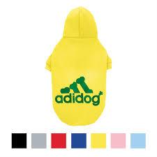Adidog Dog Hoodie Yellow Size 0