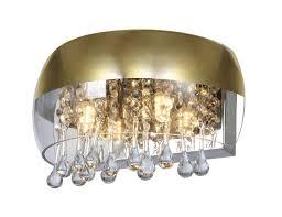 wall light metal brass 2xg9 globo