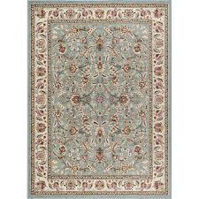 8 x 10 large blue gold and ivory area rug laa rc willey furniture