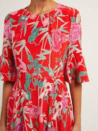 Beulah Designer Shilpa Floral Print Silk Dress Beulah Matchesfashion Us
