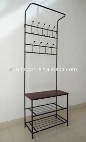 Shoe And Coat Rack Fascinating Cushion Bench Metal Foyer Hall Tree Entryway Hat Shoe Storage Coat