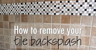 How to remove your tile backsplash