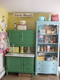 Small Picture Scenic Green And Blue Vintage Kitchen Cabinet Storage Also Open
