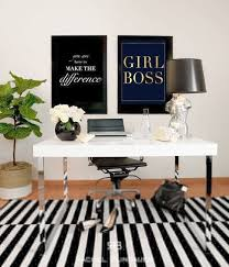 corporate office inspiration. Interesting Office Wonderful Black And White Office Decor Inspiration  Girl Boss Gold Foil Throughout Corporate Inspiration O