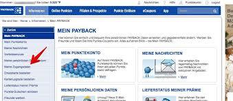 payback login vergessen